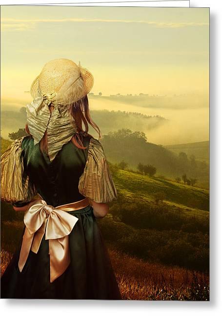 Young Traveller Greeting Card by Jaroslaw Blaminsky