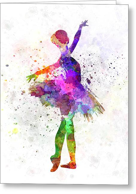Ballet Dancers Greeting Cards - Young woman ballerina ballet dancer dancing with tutu Greeting Card by Pablo Romero