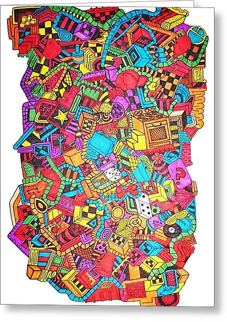 Toaster Drawings Greeting Cards - Youngen Youngen Greeting Card by Chelsea Geldean
