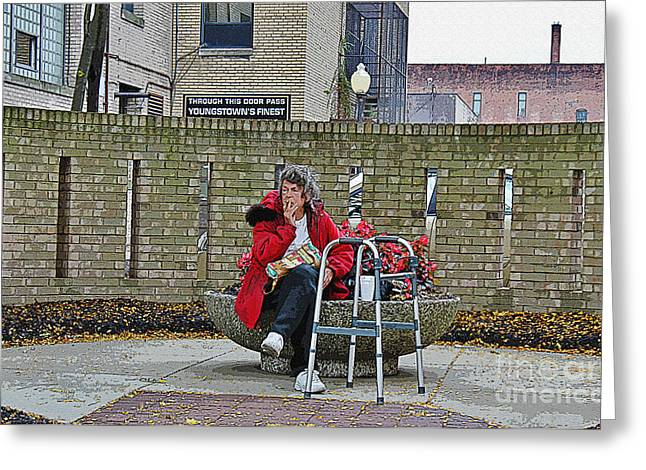 Human Survival Photographs Greeting Cards - Youngstown Ohio  Greeting Card by Janice Rae Pariza