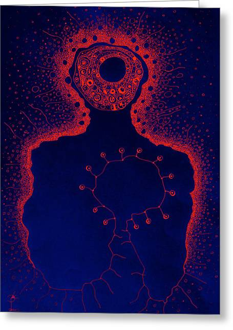 Your Aura During The Night Greeting Card by Paul Petroniu