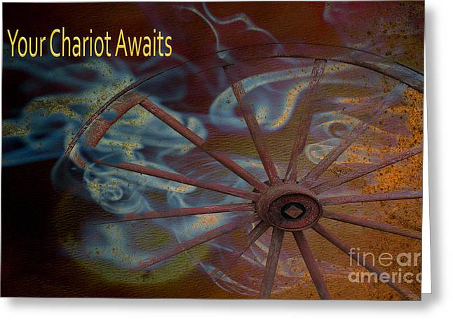 Your Chariot Awaits Greeting Card by Beverly Guilliams
