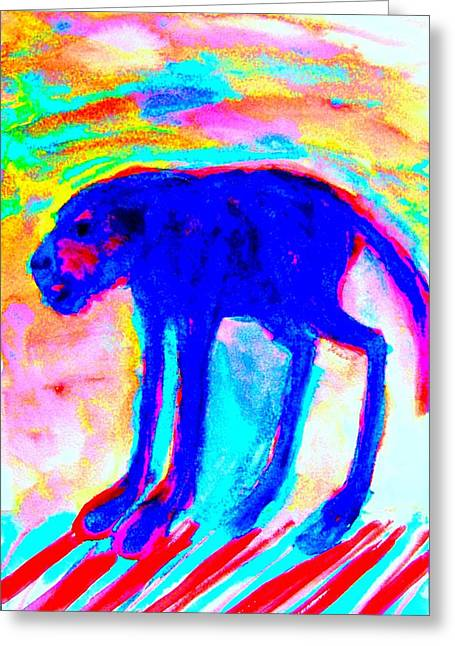 Temperament Paintings Greeting Cards - Your Inner Dog Greeting Card by Hilde Widerberg