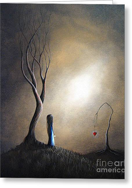 Surreal Fantasy Trees Landscape Greeting Cards - Your Memory Lives On In Me by Shawna Erback Greeting Card by Shawna Erback