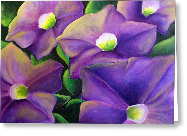 Floriography Greeting Cards - Your Presence Soothes Me Petunia Greeting Card by Heidi Prange