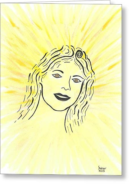 Susie Weber Greeting Cards - Your Spirit Shines On Greeting Card by Susie WEBER
