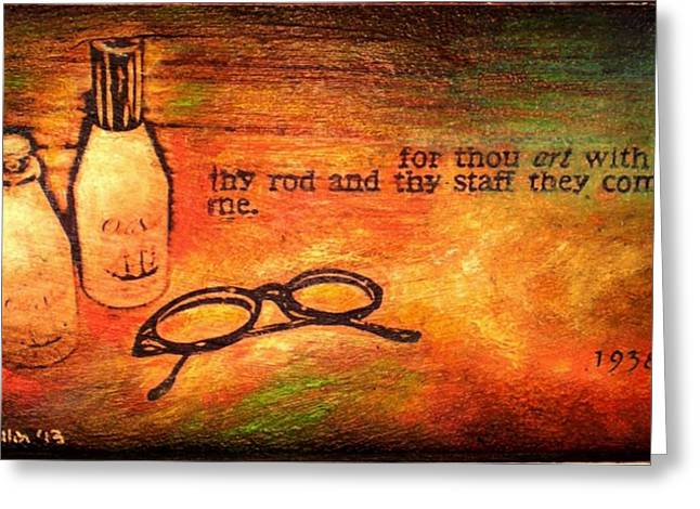 Spice Mixed Media Greeting Cards - Your Things Greeting Card by Kitt Mallin