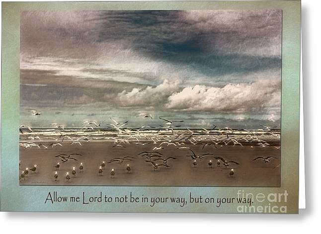 Scripture Greeting Cards - Your Way Greeting Card by Jean OKeeffe Macro Abundance Art