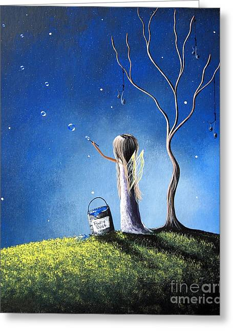 Pop Surrealism Paintings Greeting Cards - Your Wish Comes True Tonight by Shawna Erback Greeting Card by Shawna Erback
