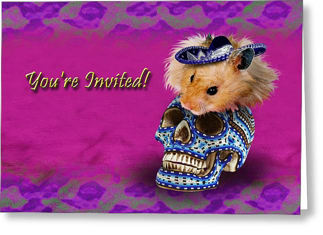 Wildlife Celebration Greeting Cards - Youre Invited Hamster Greeting Card by Jeanette K