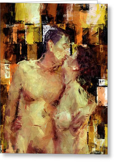 Kissing Greeting Cards - Youre The One Greeting Card by Kurt Van Wagner