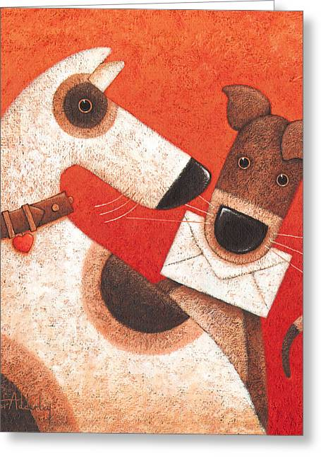Animals Love Greeting Cards - Youve Got Mail Greeting Card by Peter Adderley