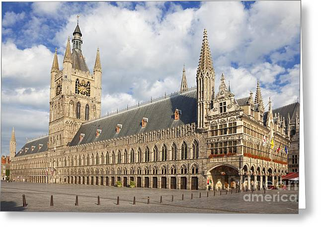 Ypres Greeting Cards - Ypres The Cloth Hall Flanders Belgium Europe Greeting Card by Jon Boyes