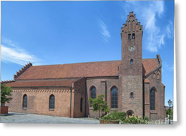 Residential Structure Greeting Cards - Ystad Monastery 03 Greeting Card by Antony McAulay