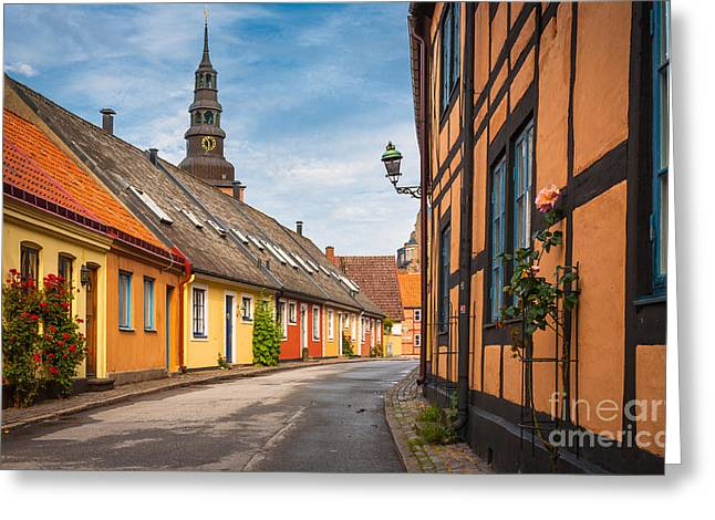 Europa Greeting Cards - Ystad Street Greeting Card by Inge Johnsson