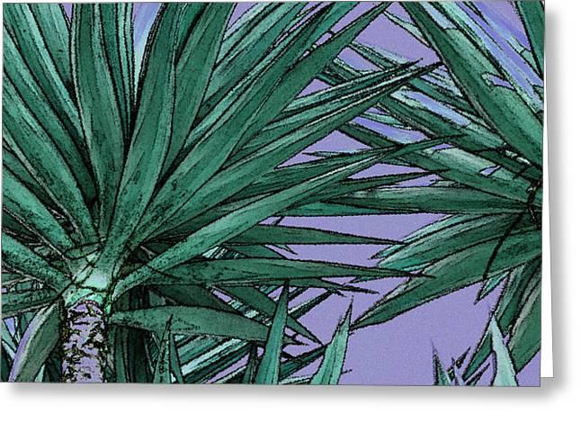 Raisa Gertsberg Digital Art Greeting Cards - Yucca Tops Greeting Card by Ben and Raisa Gertsberg
