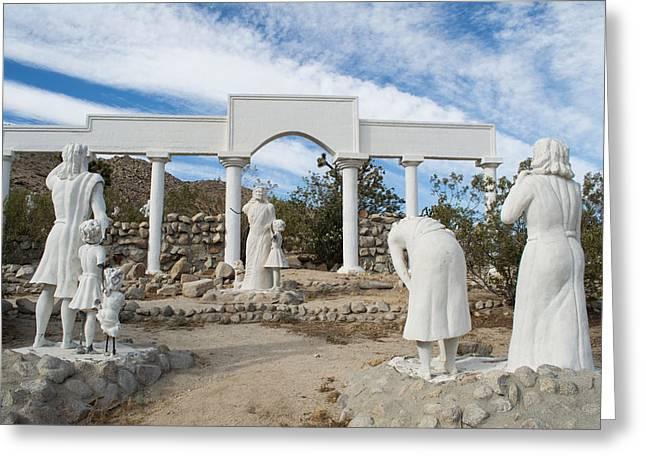 Messianic Art Greeting Cards - Yucca Valley Yeshua 100 Greeting Card by Carolina Liechtenstein
