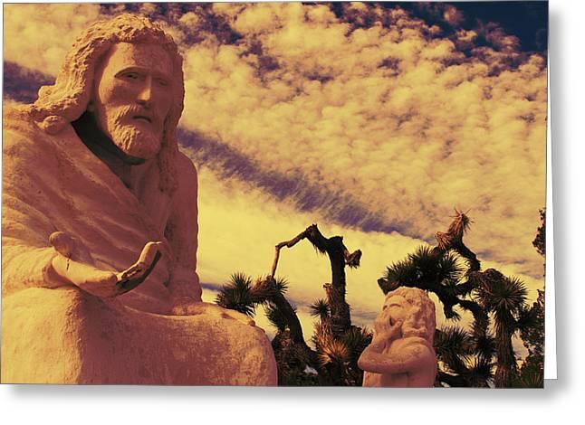 Messianic Art Greeting Cards - Yucca Valley Yeshua 20 Greeting Card by Carolina Liechtenstein