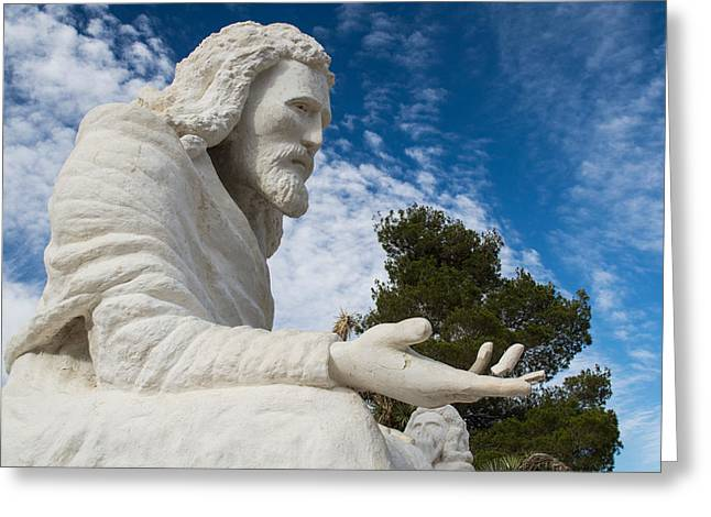 Born Again Photographs Greeting Cards - Yucca Valley Yeshua 4 Greeting Card by Carolina Liechtenstein