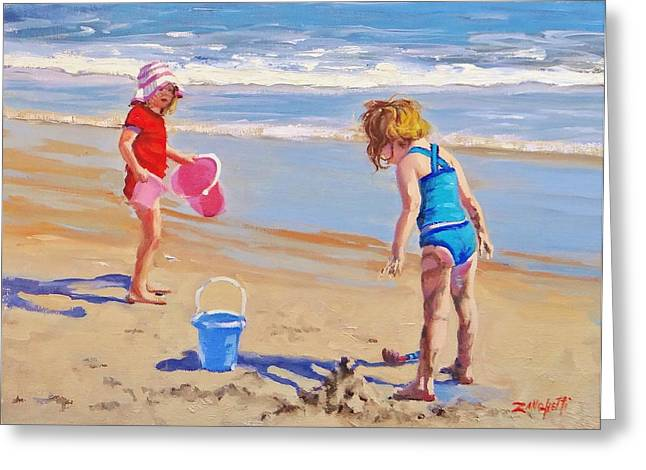 Beach Greeting Cards - Yuck Greeting Card by Laura Lee Zanghetti