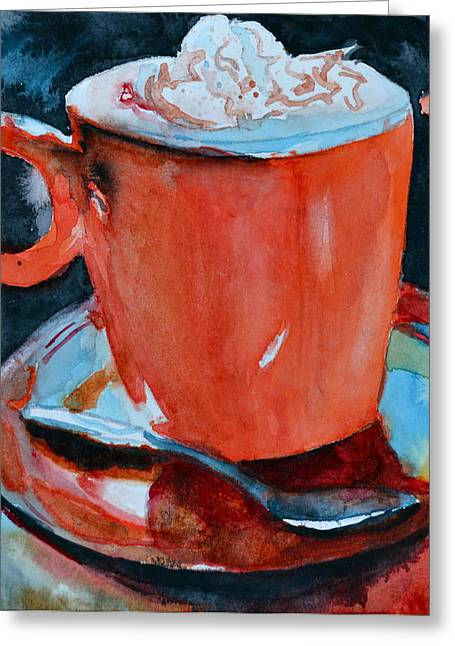 Coffee Drinking Greeting Cards - Yum Greeting Card by Beverley Harper Tinsley