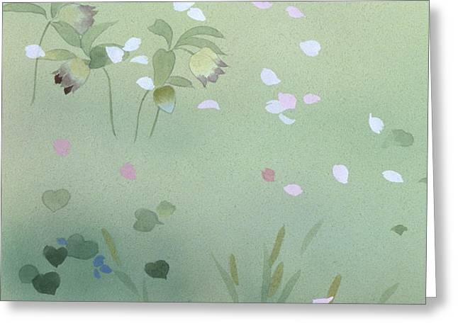 Yumezakura Crop Greeting Card by Haruyo Morita
