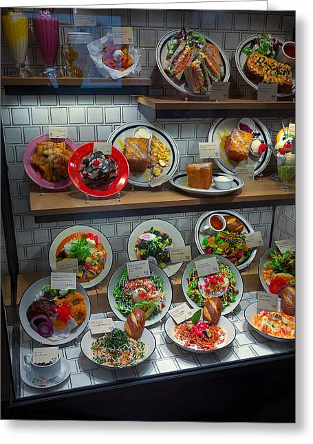 Kyoto Greeting Cards - Yummy Food Display - Kyoto Japan Greeting Card by Daniel Hagerman