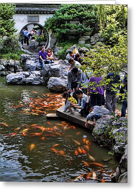 Yuyuan Gardens In Shanghai Greeting Card by David Smith