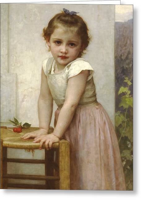 Off-the-shoulder Greeting Cards - Yvonne II Greeting Card by William Bouguereau