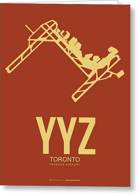 Tourists Greeting Cards - YYZ Toronto Airport Poster 3 Greeting Card by Naxart Studio