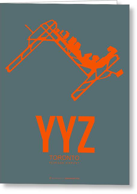 Town Mixed Media Greeting Cards - YYZ Toronto Airport Poster Greeting Card by Naxart Studio