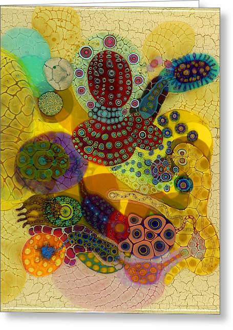 Recently Sold -  - Abstractions Greeting Cards - Z Euryale Greeting Card by Bruce Riley