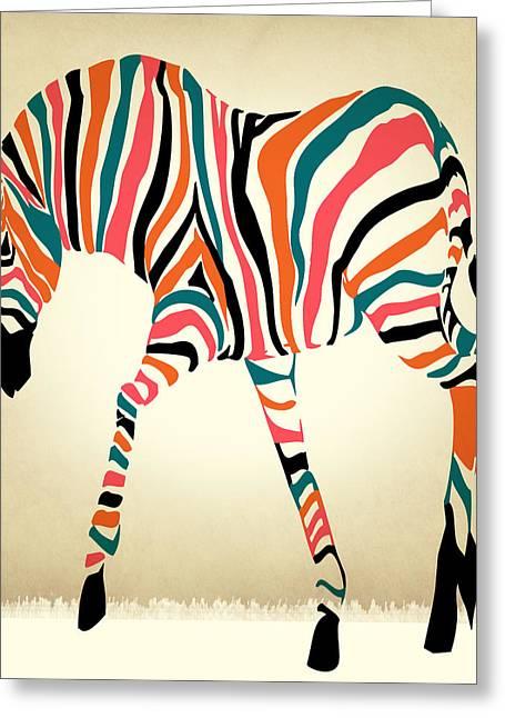 Beautiful Zebra Greeting Cards - Z Greeting Card by Mark Ashkenazi