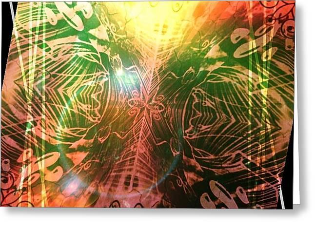 Austin Artist Digital Art Greeting Cards - Z0 Greeting Card by Lazy Fuk