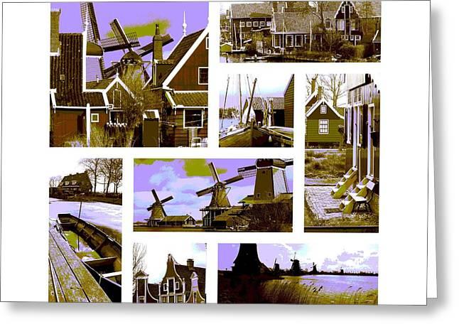 Zaandijk Greeting Cards - Zaanse Schans Greeting Card by John Eckhardt
