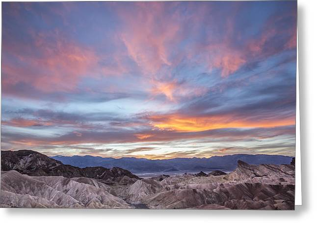 Colorful Sunset Greeting Cards Greeting Cards - Zabriski Colors Greeting Card by Jon Glaser