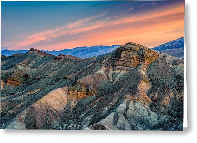 Rocky Greeting Cards - Zabriskie Dawn In Another Direction Greeting Card by Duane Miller