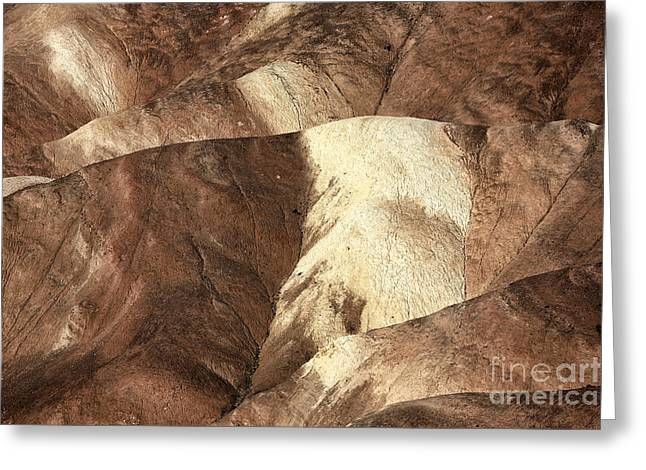 Sand Pattern Greeting Cards - Zabriskie Point Dunes Greeting Card by John Rizzuto