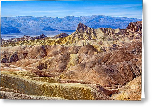 Zabriskie Point Greeting Card by Mimi Ditchie