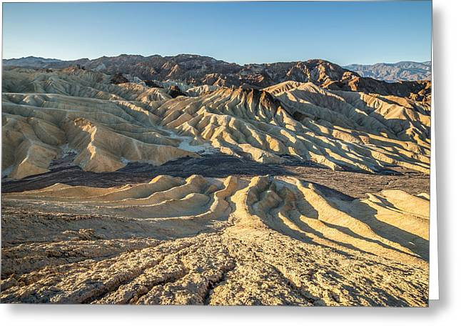 Zabriskie Point Spectacular Mountains  Greeting Card by Pierre Leclerc Photography