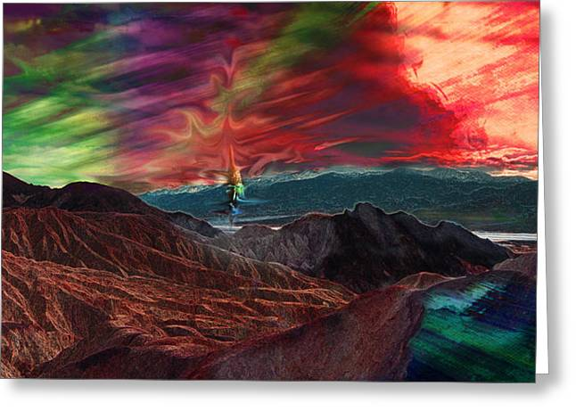Surreal Landscape Mixed Media Greeting Cards - Zabriskie Point than some Greeting Card by Sinisha Glisic