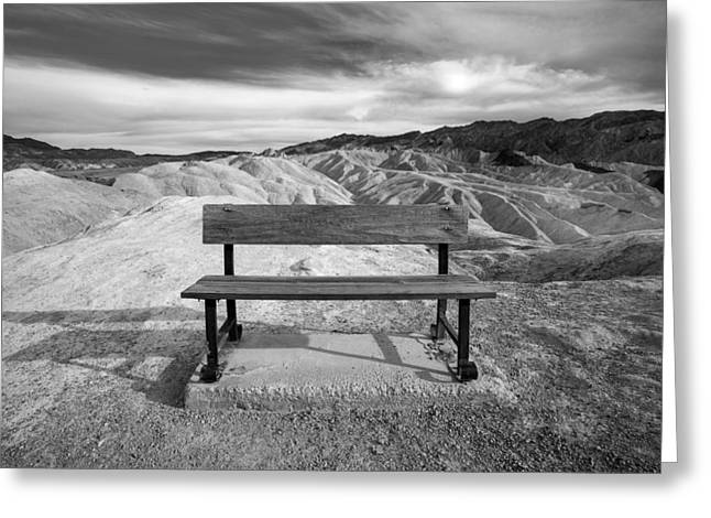 Park Benches Greeting Cards - Zabriskies Bench Greeting Card by Peter Tellone