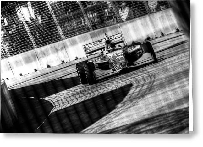 Andretti Greeting Cards - Zach Veach Greeting Card by David Morefield