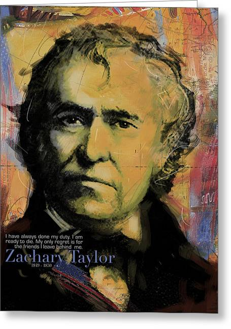 William Henry Harrison Greeting Cards - Zachary Taylor Greeting Card by Corporate Art Task Force