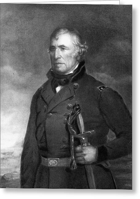Presidential Portrait Greeting Cards - Zachary Taylor Greeting Card by Eliphalet Frazer Andrews
