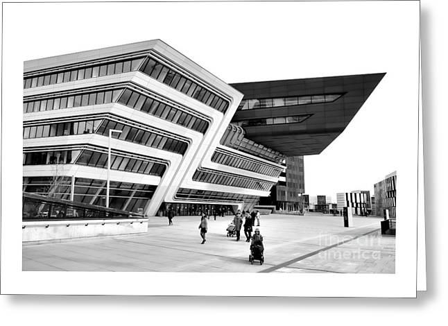 Startrek Greeting Cards - Zaha Hadid Library Center WU Campus Vienna Greeting Card by Menega Sabidussi