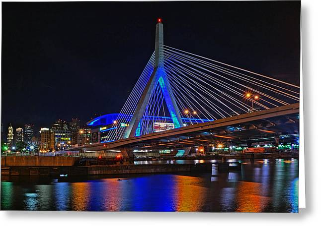 Td Bank Garden Greeting Cards - Zakim 11 Greeting Card by Jeff Stallard