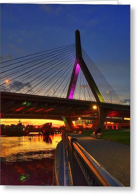 Paul Revere Greeting Cards - Zakim Bridge 5 - Boston Greeting Card by Joann Vitali