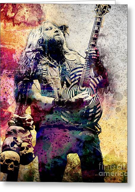 80s Greeting Cards - Zakk Wylde - Ozzy Osbourne  Greeting Card by Ryan Rock Artist