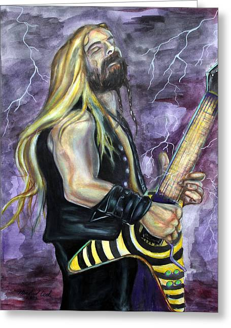 Randy Greeting Cards - Zakk Wylde number one Greeting Card by Michael Cook